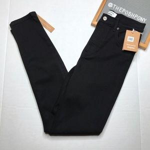 NWT Reformation High & Straight Jeans Black